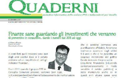 """Nuovo """"Quaderni"""" – edizione dicembre 2017"""